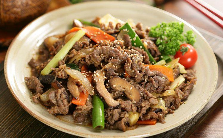 món thịt bò xào nấm