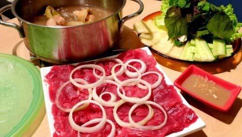Cách nấu bò nhúng dấm