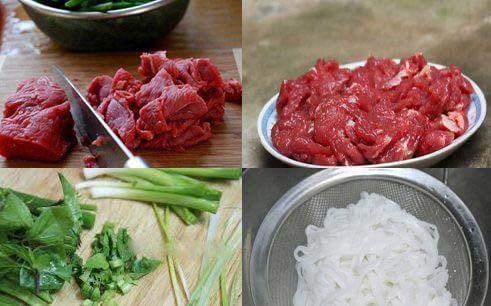 nguyên liệu nấu phở bò