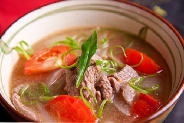 Cách nấu canh cà chua thịt bò