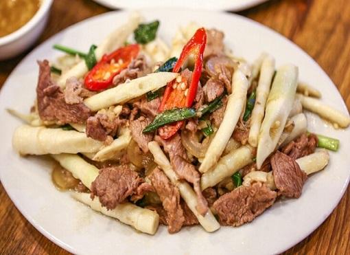măng tây xanh xào thịt bò