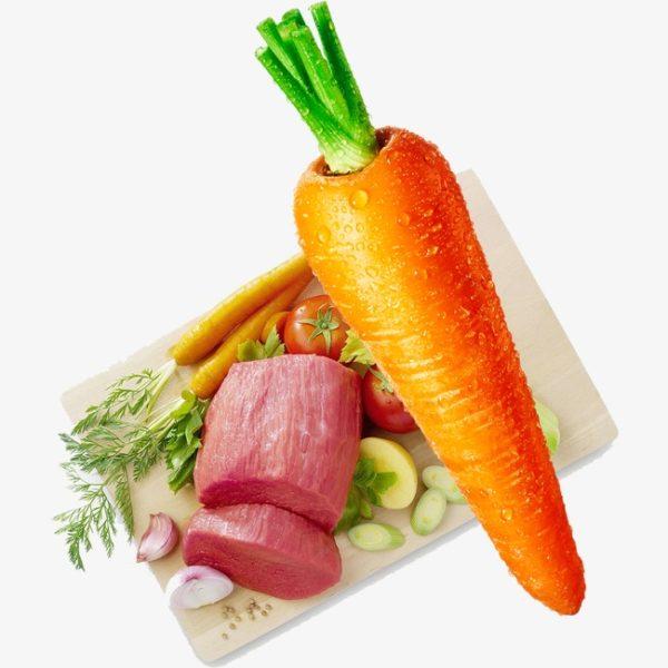 nguyên liệu cháo thịt bò cà rốt