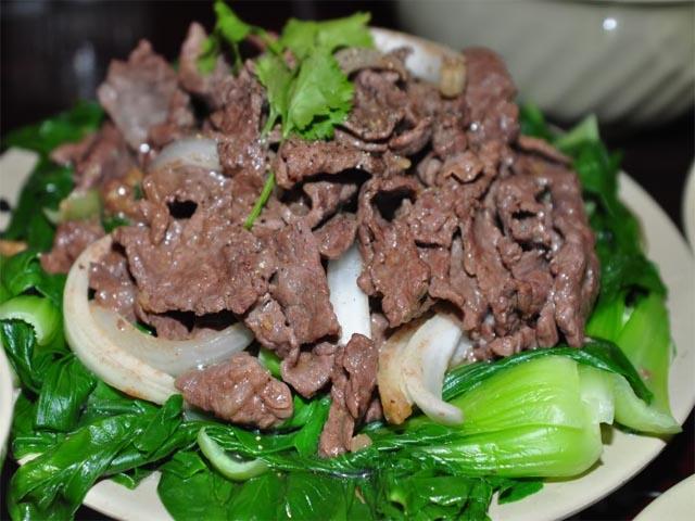 cách làm thịt bò xào rau cải