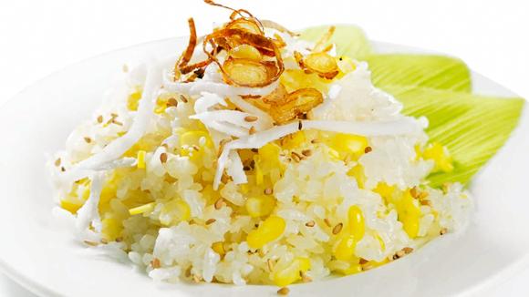 Cách nấu xôi ngô ngọt nước cốt dừa