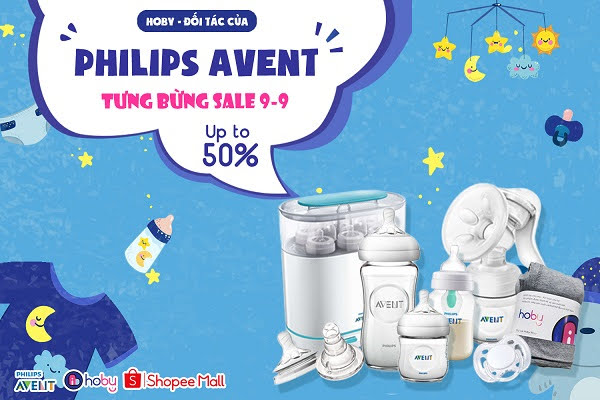 [SALE 9.9] Up to 50% - Sản phẩm cho bé Philips Avent tại Hoby