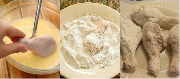 Cách làm món gà chiên bột xù