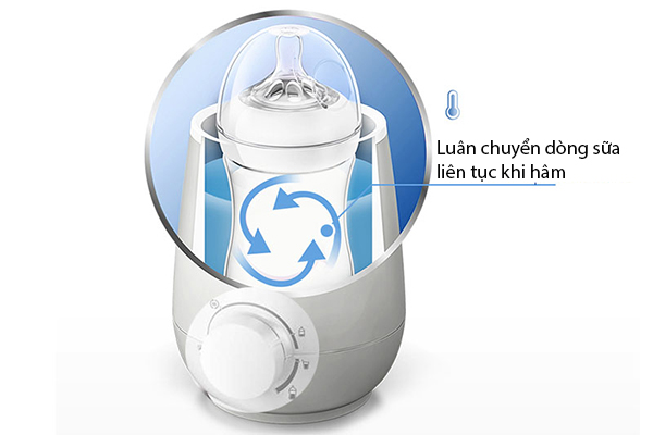 các chế độ của máy hâm sữa avent