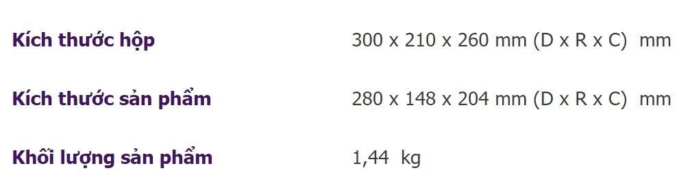 kích thước máy xay hấp avent 2 in 1