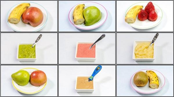 cho bé ăn dặm trái cây