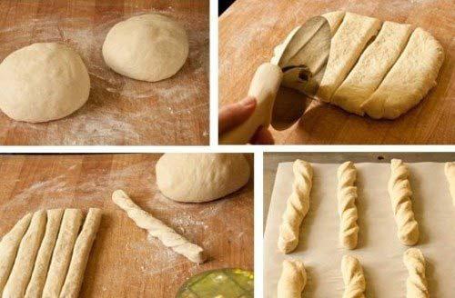 Trộn bột và tạo hình bột bánh mỳ