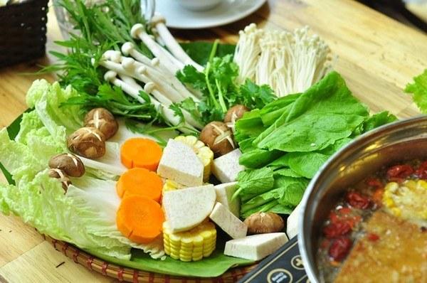 các loại rau ăn lẩu thập cẩm