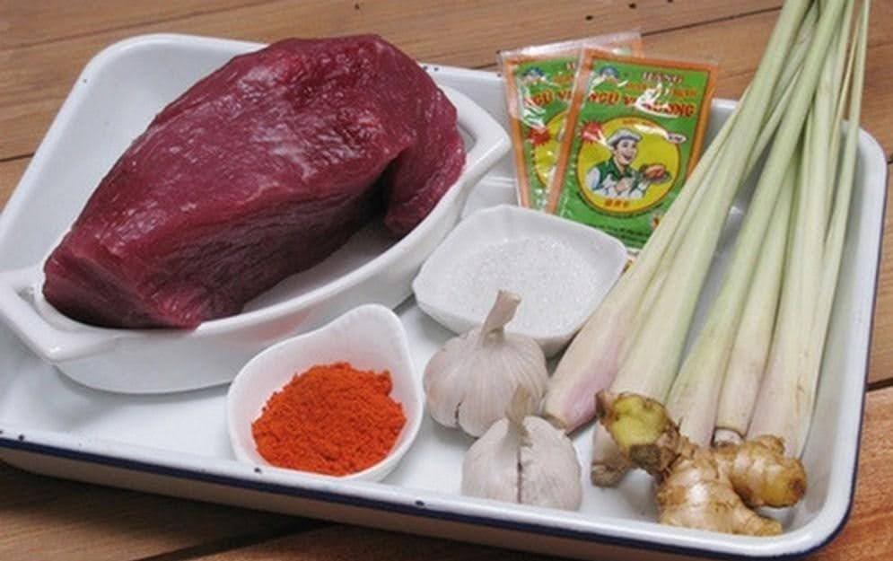 nguyên liệu nấu nạm bò miền bắc