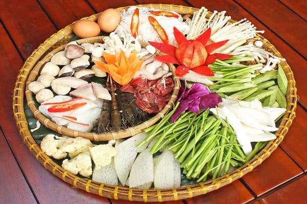 nấu lẩu hải sản thập cẩm