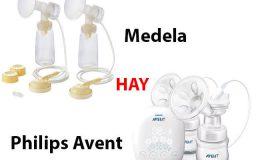 So sánh máy hút sữa Avent với Medela nên mua loại nào?