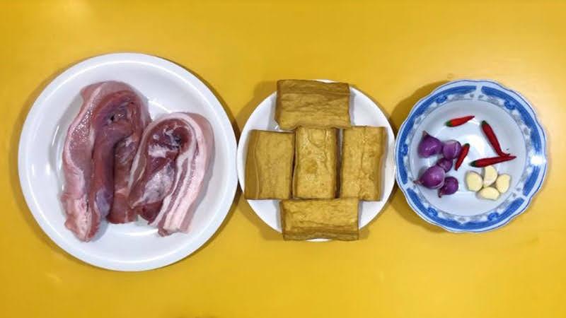 cách làm thịt kho đậu hũ đơn giản