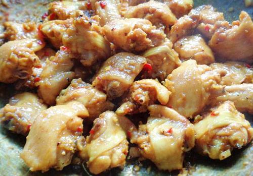 cách làm món gà kho sả ớt