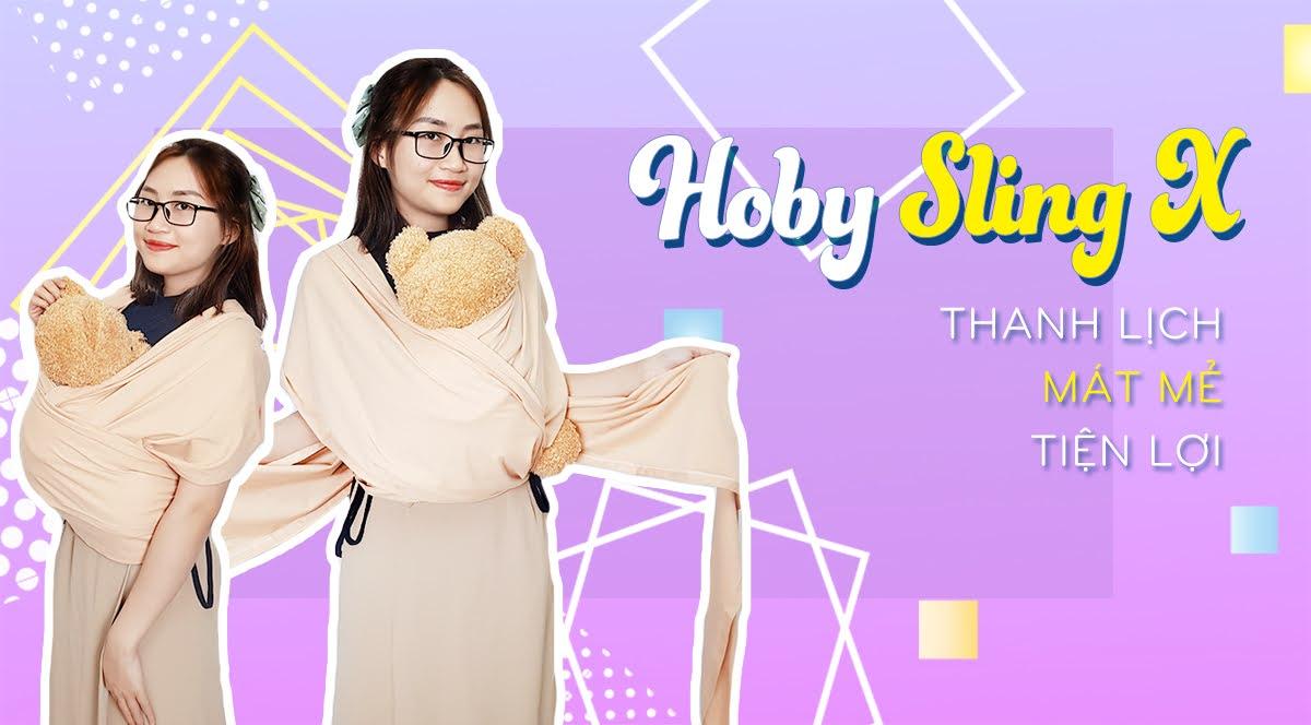 Địu vải cho bé Sling Hoby X - Giảm shock - 50% tại Shopee Hoby